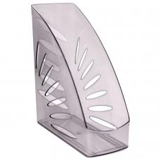 Лоток вертикальный для бумаг, увеличенная ширина 245х263 мм, увеличенная ширина 110 мм СТАММ 'Тропик', тонированный серый, ЛТ353