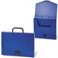 Портфель пластиковый BRAUBERG 'Energy', А4 330х256х32 мм, без отделений, синий, 222082