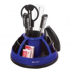Канцелярский набор BRAUBERG 'Микс', 10 предметов, вращающаяся конструкция, черно-синий, блистер, 231930