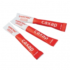 Сахар в стиках ОФИСМАГ, 5 г, порционный, 200 пакетиков, картонная упаковка, 620684