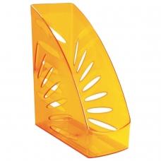 Лоток вертикальный для бумаг, увеличенная ширина 245х263 мм, увеличенная ширина 110 мм СТАММ 'Тропик', тонированный оранжевый, ЛТ360