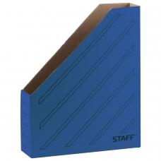 Лоток вертикальный для бумаг 260х320 мм, 75 мм, до 700 листов, микрогофрокартон, STAFF, СИНИЙ, 128882