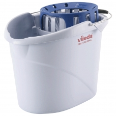 Ведро VILEDA 'Супер-моп', с системой отжима для веревочных и ленточных МОПов, овальное, объем 10 л, 122705