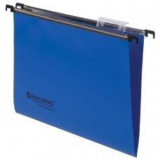 Подвесные папки А4 350х245 мм, до 80 листов, КОМПЛЕКТ 5 шт., пластик, синие, BRAUBERG , 231797