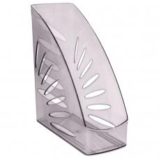 Лоток вертикальный для бумаг, увеличенная ширина 245х263 мм, увеличенная ширина 110 мм СТАММ 'Тропик', серый, ЛТ351