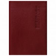 Обложка для паспорта натуральная кожа галант, 'PASSPORT', красная, BRAUBERG, 237178