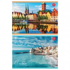 Альбом для рисования, А4, 32 л., обложка картон, BRAUBERG 'Города мира', 103684