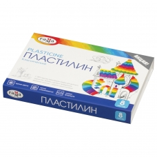 Пластилин классический ГАММА 'Классический', 8 цветов, 160 г, со стеком, картонная упаковка, 281031