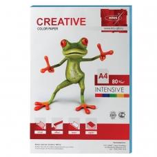 Бумага CREATIVE color Креатив, А4, 80 г/м2, 100 л., интенсив голубая, БИpr-100г