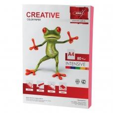 Бумага CREATIVE color Креатив, А4, 80 г/м2, 100 л., интенсив розовая, БИpr-100р