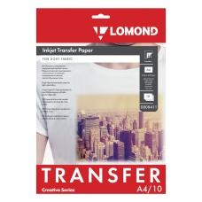 Бумага термотрансферная LOMOND для светлых тканей, А4, 10 шт., 140 г/м2, 0808411