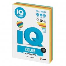 Бумага IQ color, А4, 80 г/м2, 250 л. 5 цв. x 50 л., цветная интенсив RB02
