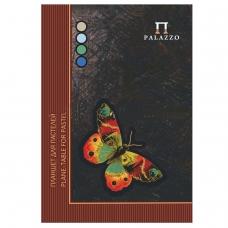 Папка для пастели/планшет, А4, 210х297 мм, 20 л. тонированная бумага 200 г/м2, склейка, 4 цв., твердая подложка, 'Бабочка', ПБ/А4