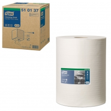 Протирочный нетканый материал TORK Система W1, W2, W3 Premium, 400 листов в рулоне, 32х38 см, 510137