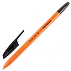 Ручка шариковая BRAUBERG 'X-333 Orange', ЧЕРНАЯ, корпус оранжевый, узел 0,7 мм, линия письма 0,35 мм, BP168