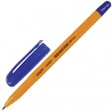 Ручка шариковая STAFF, СИНЯЯ, шестигранная, корпус оранжевый, узел 1 мм, линия письма 0,5 мм, BP104