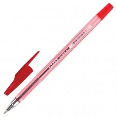 Ручка шариковая STAFF AA-927, КРАСНАЯ, корпус тонированный, хромированные детали, 0,7 мм, линия 0,35 мм,, BP107