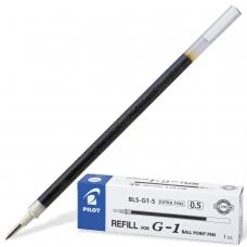 Стержень гелевый PILOT, 128 мм, ЧЕРНЫЙ, узел 0,5 мм, линия письма 0,3 мм, BLS-G1-5