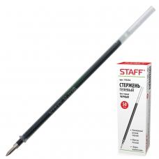 Стержень гелевый STAFF, 135 мм, ЧЕРНЫЙ, узел 0,5 мм, линия письма 0,35 мм, 170232