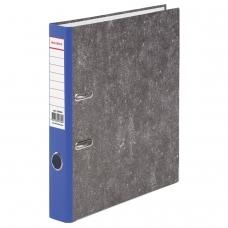 Папка-регистратор BRAUBERG, фактура стандарт, с мраморным покрытием, 50 мм, синий корешок, 220984