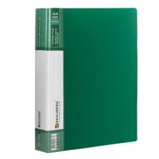 Папка на 2 кольцах BRAUBERG 'Contract', 35 мм, зеленая, до 270 листов, 0,9 мм, 221794