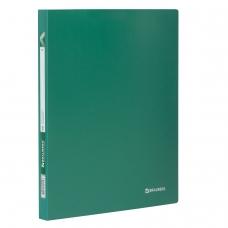 Папка 40 вкладышей BRAUBERG 'Office', зеленая, 0,6 мм, 222633