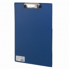 Доска-планшет BRAUBERG 'Comfort', с верхним прижимом, А4, 23х35 см, картон/ПВХ, синяя, 222659