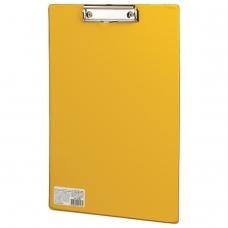 Доска-планшет BRAUBERG 'Comfort', с верхним прижимом, А4, 23х35 см, картон/ПВХ, желтая, 222662