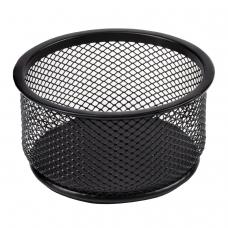 Подставка-органайзер BRAUBERG 'Germanium', металлическая, круглое основание, 50х95 мм, черная, 223120