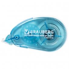 Корректирующая лента BRAUBERG 'Maxi', увеличенная длина 5 мм х 25 м, белый/синий корпус, блистер, 225592