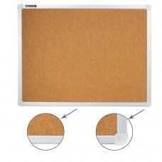 Доска пробковая BRAUBERG для объявлений, 45х60 см, алюминиевая рамка, 231711