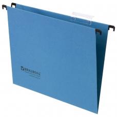 Подвесные папки картонные BRAUBERG, комплект 10 шт., 315х245 мм, до 80 л., А4, синие, 230 г/м2, табуляторы, 231789