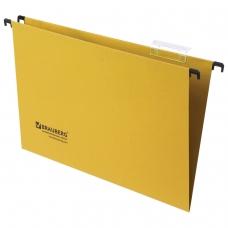 Подвесные папки картонные BRAUBERG, комплект 10 шт., 370х245 мм, 80 л., Foolscap, желтые, 230 г/м2, табуляторы, 231794