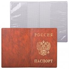 Обложка 'Паспорт России', вертикальная, ПВХ, цвет коричневый, 'ДПС', 2203.В-104