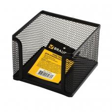 Подставка для бумажного блока BRAUBERG 'Germanium', металлическая, 78*105*105 мм, черная, 231944