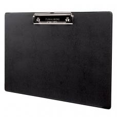 Доска-планшет горизонтальная BRAUBERG 'NUMBER ONE A4', с прижимом, 31,8х22,8 см, черная, 232223