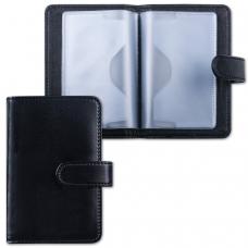 Визитница/кредитница однорядная GALANT 'Ritter', на 24 карты, под гладкую кожу, застежка, черная, 235400