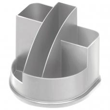 Подставка-органайзер СТАММ 'Авангард', 132х122х108 мм, 5 отделений, серая, ОР51