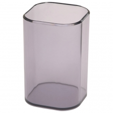 Подставка-органайзер СТАММ 'Визит' стакан для ручек, 70х70х100 мм, тонированная серая, СН35