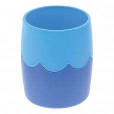 Подставка-органайзер СТАММ стакан для ручек, сине-голубая, непрозрачная, СН505