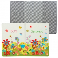 Обложка для паспорта 'Твой стиль - Цветы', вертикальная, кожзаменитель, 'ДПС', 2203.Т5