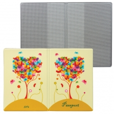 Обложка для паспорта 'Твой стиль - Дерево', вертикальная, кожзаменитель, 'ДПС', 2203.Т6