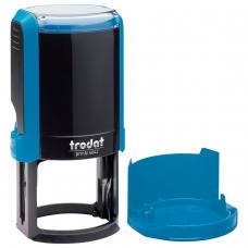 Оснастка для печати, оттиск D=42 синий, TRODAT 4642 PRINTY 4.0, корпус синий, крышка, 66584