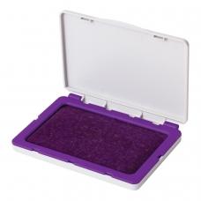 Штемпельная подушка BRAUBERG, 100х80 мм рабочая поверхность 90х50 мм, фиолетовая краска, 236869