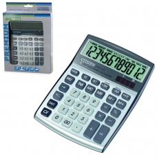 Калькулятор CITIZEN настольный CDC-112WB, 12 разрядов, двойное питание, 120x72 мм