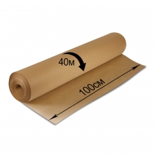 Крафт-бумага в рулоне, 1000 мм х 40 м, плотность 78 г/м2, BRAUBERG, 440148