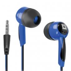 Наушники DEFENDER Basic 604, проводные, 1,2 м, вкладыши, черные с голубым, 63608