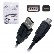 Кабель USB-micro USB, 2.0, 0,5 м, CABLEXPERT, для подключения портативных устройств и периферии, CCPmUSB2AMBM05M