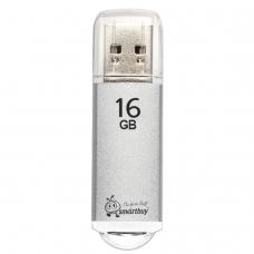 Флэш-диск 16 GB, SMARTBUY V-Cut, USB 2.0, металлический корпус, серебристый, SB16GBVC-S