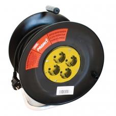 Удлинитель на катушке РАДИСТ РБК16-270-005, 4 розетки с заземлением, 20 м, 3х1,5 мм, 2200 Вт, 2391